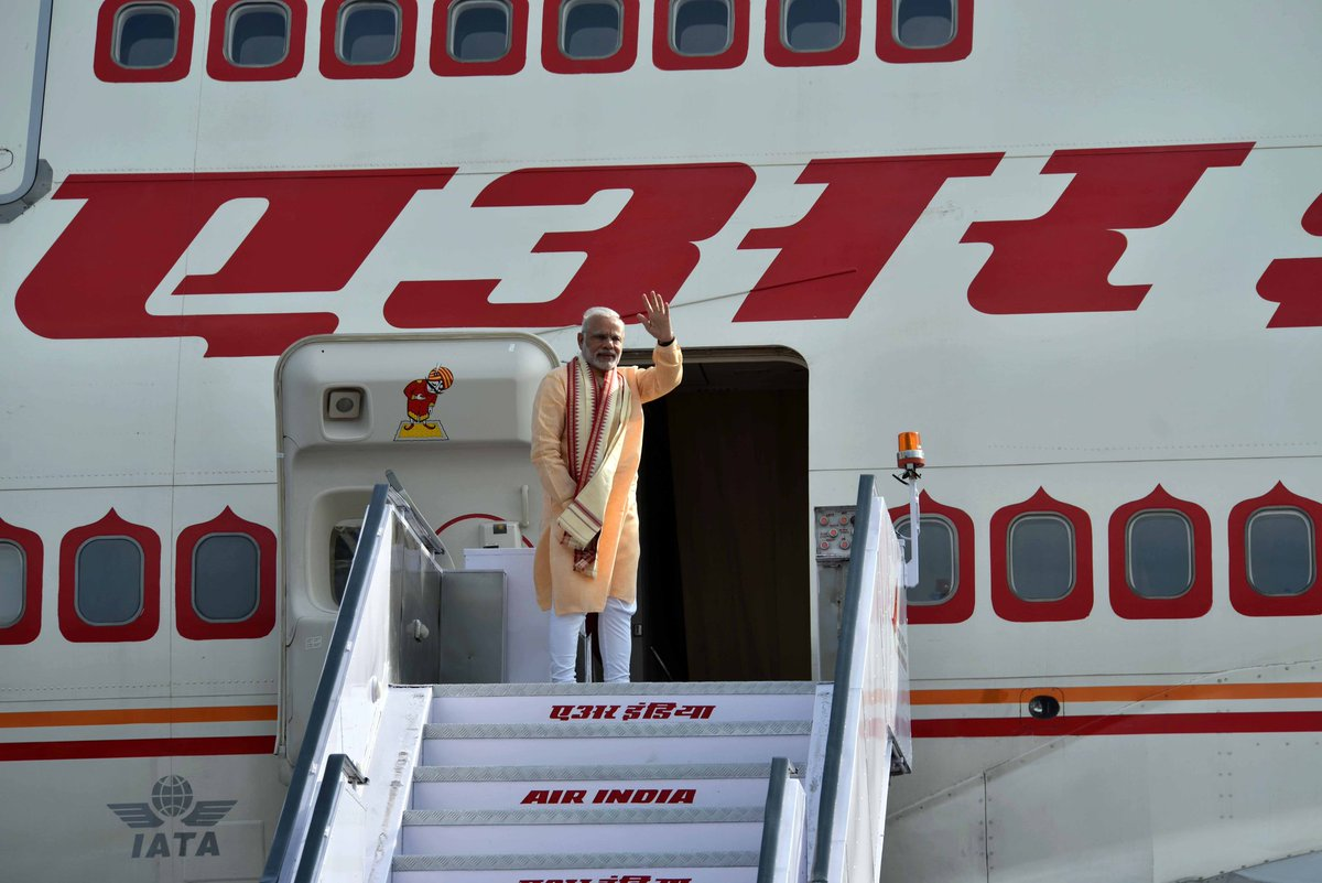 Modi left India and headed to Vietnam