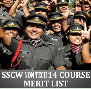 14 SSCW NT merit list of Army