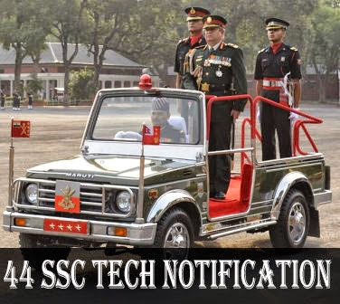 44 SSC Tech notification of Army