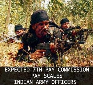 7th pay commission Army officers pay scales