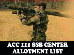 ACC 111 SSB dates and center allotment