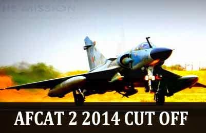 AFCAT 2 2014 cut off