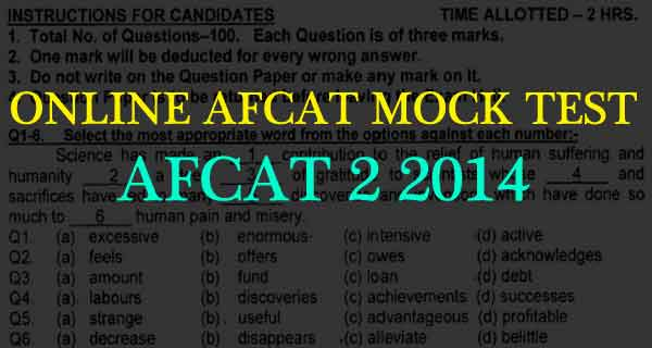 Original afcat 2 2014 question paper practice set afcat mock test 2 2014 question paper malvernweather Gallery