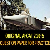 AFCAT 2 2015 question paper for online practice