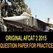 AFCAT 02 2015 Question Paper Online Practice Test