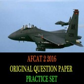 AFCAT 2 2016 Question Paper Practice Set
