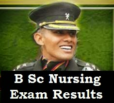B Sc Nursing written exam results