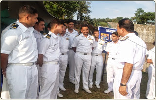 Cadets undergoing training at Indian Naval Academy