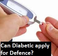 Can diabetic candidates apply for Indian Army, Navy or Air Force