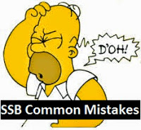 Common mistakes during SSB interviews