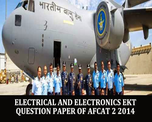 EKT Electronics and Electrical Question paper of AFCAT 2 2014