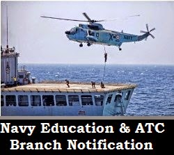 Education and ATC branch notification of Indian Navy