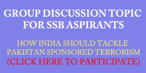 Group discussion topic for SSB interview