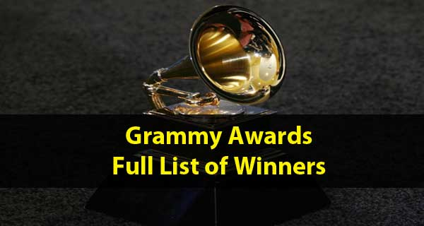 Full list of Grammy Award winners