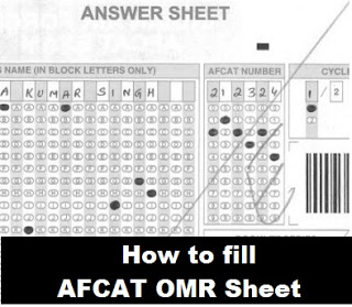 How to fill up AFCAT OMR answer sheet