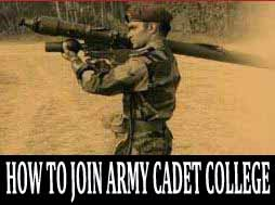 How to join Army Cadet College