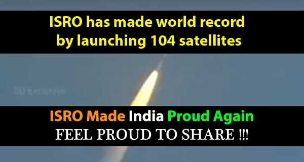 ISRO has successfully launched 104 satellites