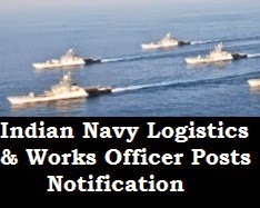 Indian Navy Logistics officer notification