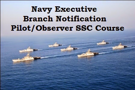 Indian Navy Pilot Observer SSC course notification