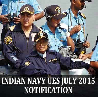Indian Navy UES course notification and eligibility