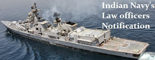 Indian navy law officers notification