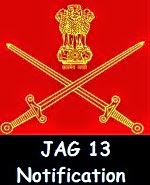 JAG 13 notification of Indian Army