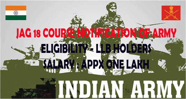 Indian Army JAG notification