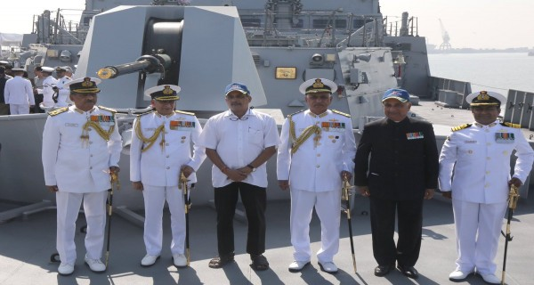 Manohar Parrikar at INS Chennai commissioning ceremony
