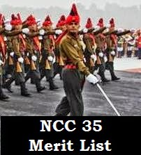 NCC 35 Men course merit list