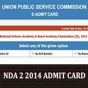 NDA 2 2014 admit card download