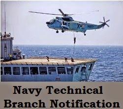 Navy Technical branch SSC Officers course notification