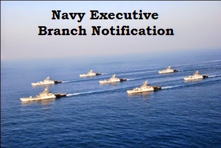 Navy executive branch notification