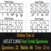 AFCAT 2 2106 Non Verbal Question paper for online practice