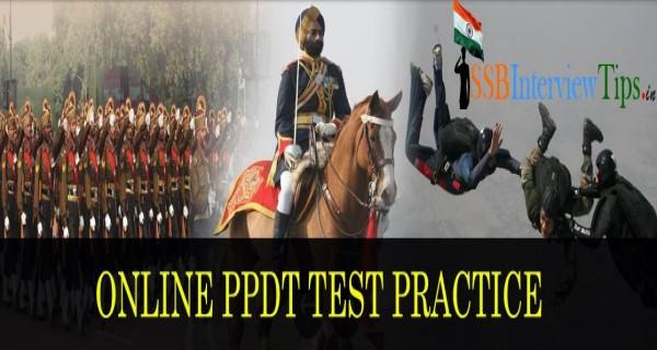 Online PPDT Practice Set for SSB Aspirants