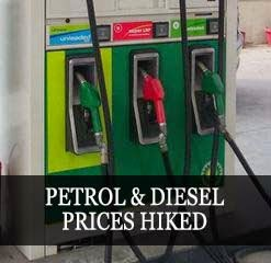 Petrol and diesel prices hiked in India