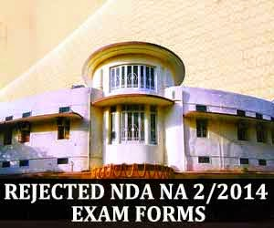 Rejected applications of NDA NA 2 2014 exam