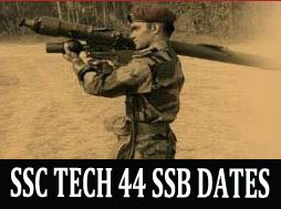 SSC Tech 44 SSB dates and cut off