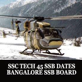SSC Tech 45 SSB dates