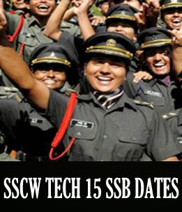 SSCW Tech 15 SSB interview dates