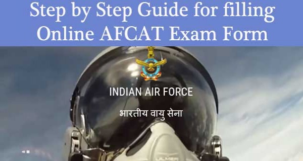 Step by step guide for filling up online AFCAT exam