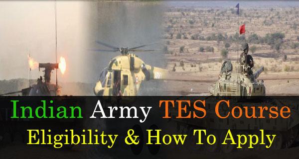 TES Indian Army Notification Eligibility Criteria