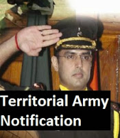 Territorial Army Notification 2014 - 2015