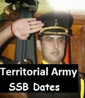 Territorial Army TA 30 SSB dates