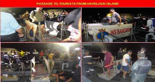 Indian Navy rescued stranded tourists in Havelock island