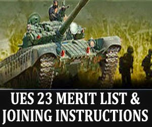 UES 23 merit list and joining instructions