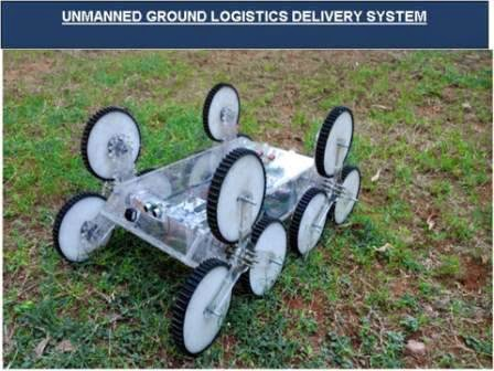 Unmanned ground logistics delivery system