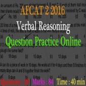 Online AFCAT 2 2016 Verbal Reasoning Questions Practice