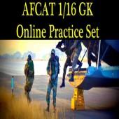 Online AFCAT 1 16 GK Question paper