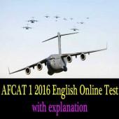 AFCAT 1 2016 English Question Paper Online Test
