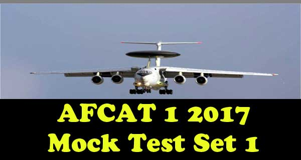 AFCAT 1 2017 Mock Test Question Paper